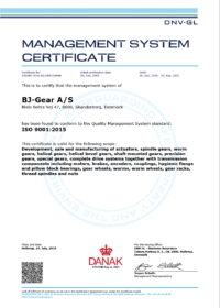 BJ Gear ISO Certificate