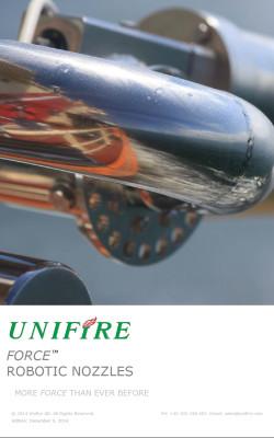 Unifire Force Robotic Nozzle Catalog Cover