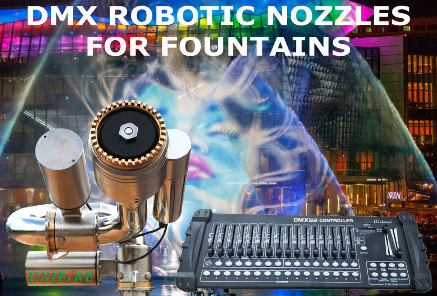 DMX Robotic Nozzles for Fountains