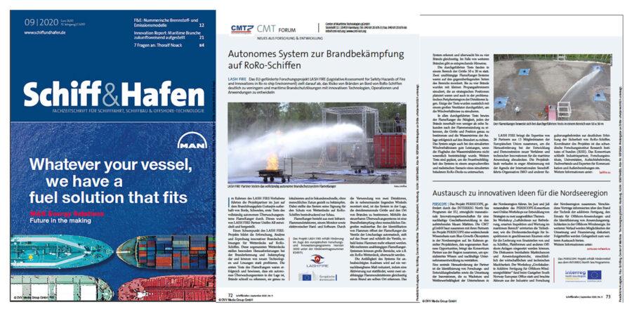 Unifire FlameRanger Article by Center for Maritime Technologies in Schiff&Hafen Magazine