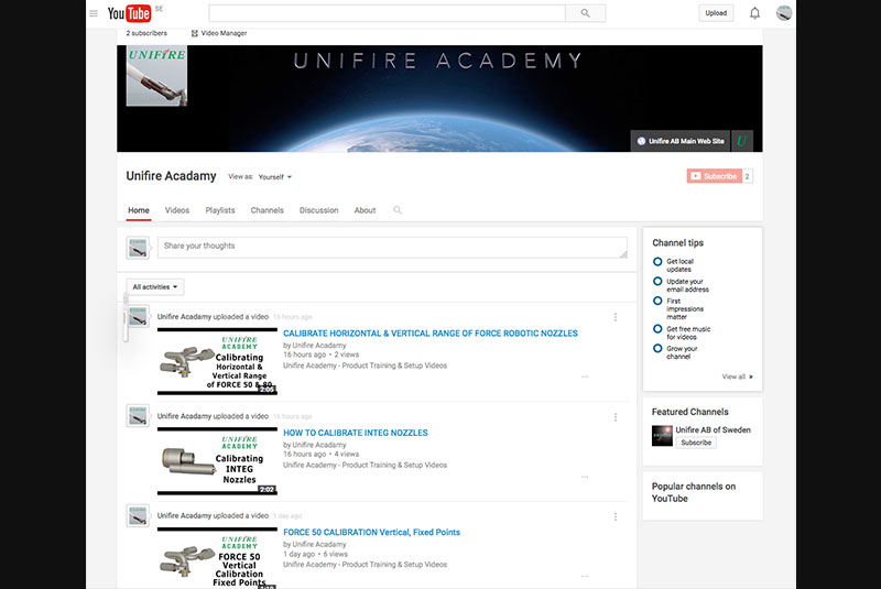 Unifire-Academy-YouTube