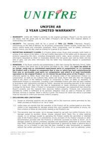 Unifire 2 Year Robotic Nozzle Warranty